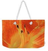 Orange-yellow Daylily Weekender Tote Bag