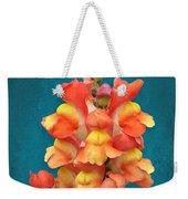 Orange Yellow Snapdragon Flowers Weekender Tote Bag