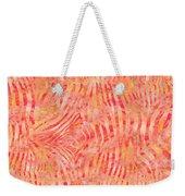Orange Zebra Print Weekender Tote Bag