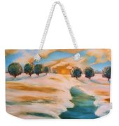 Oranges In The Snow-landscape Painting By V.kelly Weekender Tote Bag by Valerie Anne Kelly