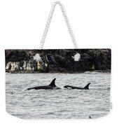 Orcas In The Salish Sea Weekender Tote Bag