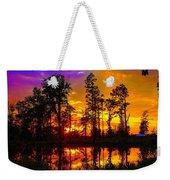 Orchard Lake Sunset Weekender Tote Bag