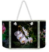 Orchid 1 Triptych Weekender Tote Bag