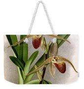 Orchid, Cypripedium Elliottianum, 1891 Weekender Tote Bag