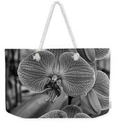 Orchid Glory Black And White Weekender Tote Bag