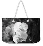Orchid In Black And White Weekender Tote Bag