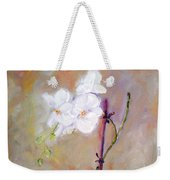 Orchid In White 3 Weekender Tote Bag