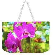 Orchid Oil Painting Weekender Tote Bag