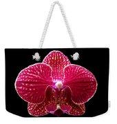 Orchid On Black 2 Weekender Tote Bag