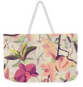 Orchid Pattern Weekender Tote Bag