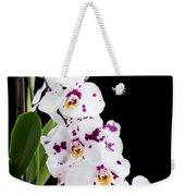 Orchid Phalaenopsis White Flower Weekender Tote Bag