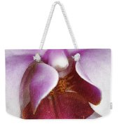 Orchid Portrait In Craquelure Weekender Tote Bag