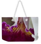 Orchid Ruffle Weekender Tote Bag