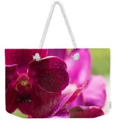 Orchid Vanda Ratchaburi Waxy Red Weekender Tote Bag
