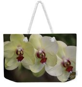 Orchid White Trio Weekender Tote Bag