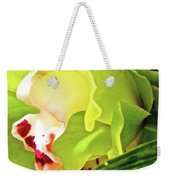 Orchid With Yellow And Green 2 Weekender Tote Bag