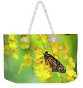 Orchids And Butterfly Painting Weekender Tote Bag