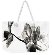 Orchids In Black Weekender Tote Bag