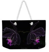 Orchids In Neon Weekender Tote Bag