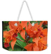 Orchids Vertical Triptych Weekender Tote Bag