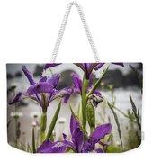 Oregon Iris At The Beach Weekender Tote Bag
