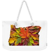 Oregon Maple Leaves Mixed Fall Colors Background Weekender Tote Bag