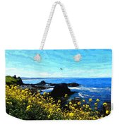Oregon Wild Flowers Water Color Weekender Tote Bag