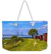 Oresund Bridge With Cabanas Weekender Tote Bag