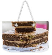 Organic Coffee And Pistachio Cake A Weekender Tote Bag