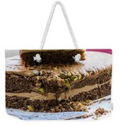 Organic Coffee And Pistachio Cake B Weekender Tote Bag