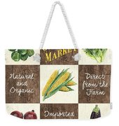 Organic Market Patch Weekender Tote Bag