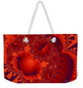 Organics Over Geometrics In Red Weekender Tote Bag