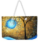 Orginal Abstract Landscape Painting Blue Fire By Madart Weekender Tote Bag