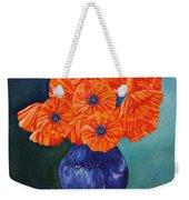 Oriental Poppies In Blue Weekender Tote Bag