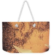 Origami Boats On World Map Weekender Tote Bag