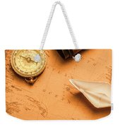 Origami Paper Boats On A Voyage Of Exploration Weekender Tote Bag