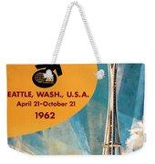 Original 1962 Seattle Worlds Fair Promotion Weekender Tote Bag