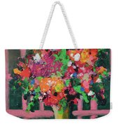 Original Bouquetaday Floral Painting By Elaine Elliott 59.00 Incl Shipping 12x12 On Canvas Weekender Tote Bag