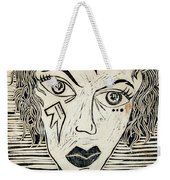 Original Devil Block Print Weekender Tote Bag