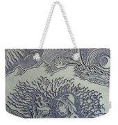 Original Linoleum Block Print Weekender Tote Bag