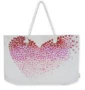 Original Oil Painting Heart, Painting Butterflies, Valentines Day Art, Wall Art Love Weekender Tote Bag