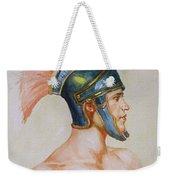 Original Watercolour Painting Art Male Nude Portrait Of General  On Paper #16-3-4-19 Weekender Tote Bag