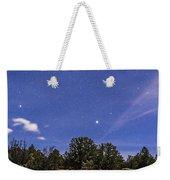Orion And Sirius Rising Weekender Tote Bag