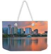 Orlando Cityscape Sunset Weekender Tote Bag
