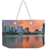 Orlando Skyscrapers And Palm Trees Weekender Tote Bag