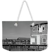 Ormond Yacht Club Black And White Weekender Tote Bag