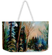 Ormstown Quebec Winter Road Weekender Tote Bag