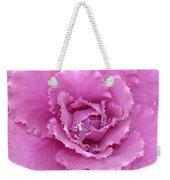 Ornamental Cabbage With Raindrops - Square Weekender Tote Bag