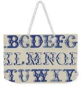 Ornamental Font Weekender Tote Bag