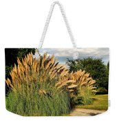 Ornamental White Pampas Grass-1 Weekender Tote Bag